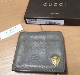 Authentic Gucci grey wallet