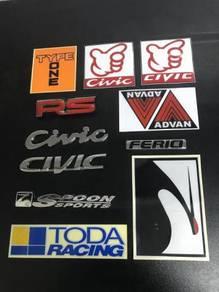Honda Civic EK EG RS Ferio Spoon Type One Stiker