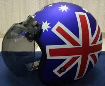 Blue Flag (Matte) & Avengers (Kids) Helmet