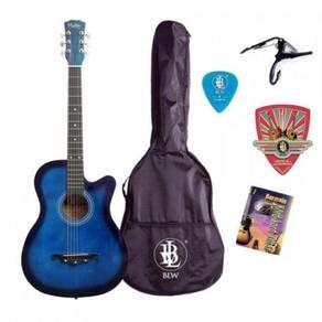 Pro Akustik Gitar Pakej- Bag, Capo, Buku Kord (BL)