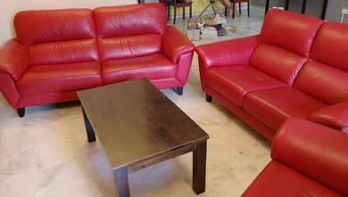 Leather sofa (Rozel) 1+2+3 seatets