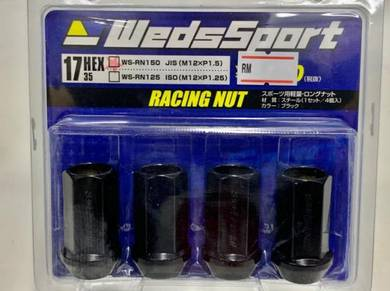 WedsSport Hex 17 Racing Steel Nut M12 x P1.5 P1.25