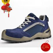Safety shoes sport style in suede leather