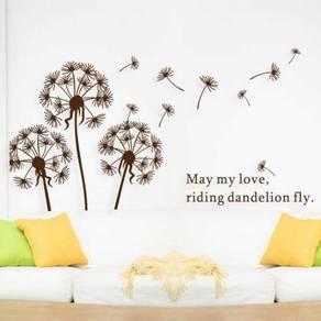 Brown Dandelion Wall Sticker