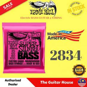 Ernie Ball 2834 Super Slinky Electric Bass, 45-100