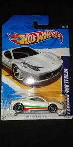 Hotwheels Ferrari 458 Italia White