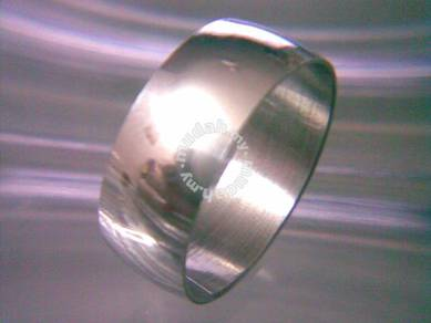 ABRSS-P001 Silver Plain Simple Style Ring Size 8.5