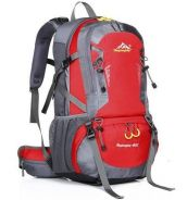 Gear Travel Hiking Bag Camping Backpack (Red)