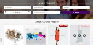 Multi vendor georgetown Ecommerce website