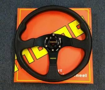 MOMO RACE Sport PVC Leather Steering