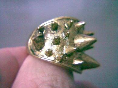 ABRB-R005 Retro Rivet Bronze Tone Noble Ring Sz7.5