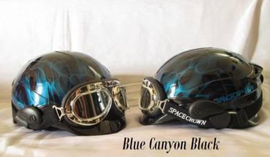 Blue Canyon Space Crown Trooper Chopper Helmet