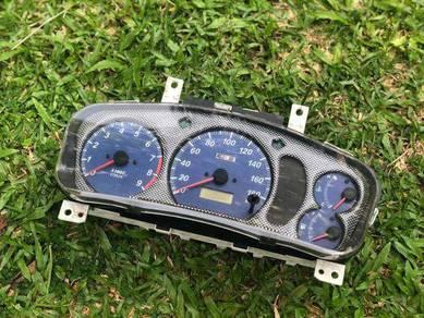 Meter Original Evo 6 Biru Panel CF Ori Meter
