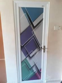 Pintu tandas aluminium swing door & bi fold door
