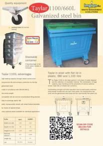 Taylar brand galvanized iron bin waste bin #1