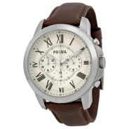 Fossil FS4735 Grant Chronograph Brown Leather Watc