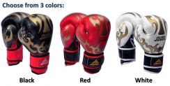 BPS JDUANL Professional Leather Boxing Gloves
