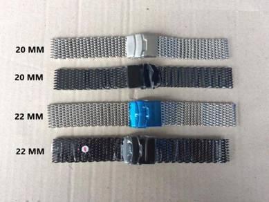 Mesh Shark Bracelet Silver Black