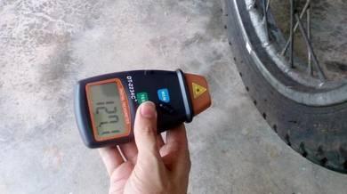 Ukur Kelajuan Pusingan Laser RPM Tachometer Meter