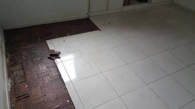 Vinyl Floor Lantai Timber Laminate PVC Floor Q318
