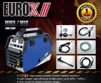 EUROX EWG2500 MMA/MIG Inveter Welding Machine