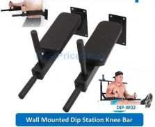 BPS FitExperte Wall Mounted Dip Station six packs