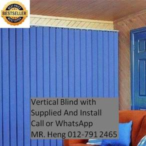 Modern Office Vertical Blind with Install 42g4