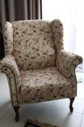 Arm chair single seater sofa rose pattern vintage