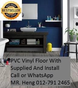 NEW Made Vinyl Floor with Install iu89j
