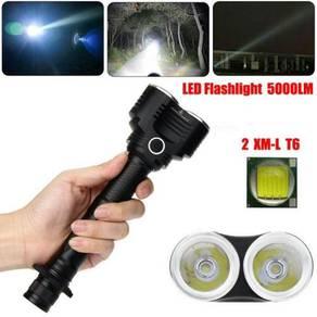 5000 Lumens 5 Modes 2X XM-L T6 LED Adjustable Flas