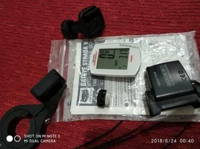 Cateye wireless meter strada with holder