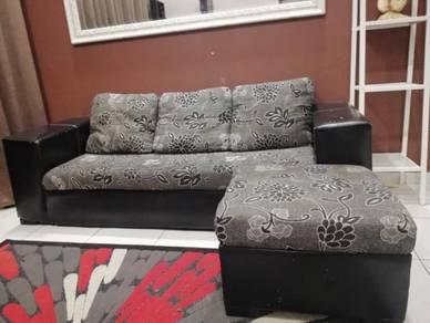 Sofa 3+1 seaters, shelves