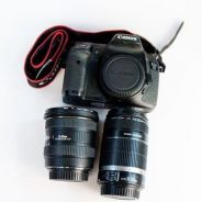 7D with 10-20 wide sigma & 55-250 zoom canon lens