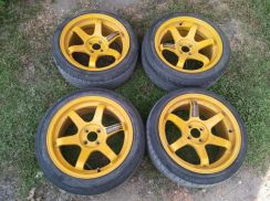 Te37 17 8.5jj pcd 100 sell with tyre/tayar