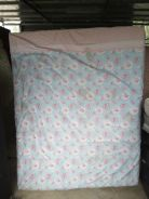 Queen size bed (pink n blue color)