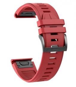 Garmin Fenix 5X Plus QuickFit OEM Red Watch Band