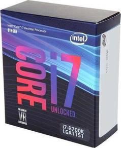 Intel Core i7 8700K 6-Core 3.7 GHz (4.7 GHz Turbo)