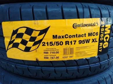 215/50/17 Continental Maxcontact MC6 Tyre 2019