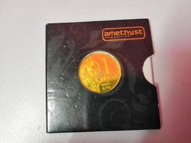 Dinar amethyst emas 999.9