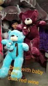 Teddy bear with baby 140cmm saiz