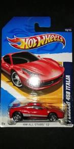 Hotwheels Ferrari 458 Italia Red
