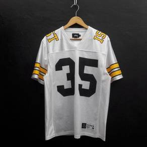 Stussy jst 35 football v neck jersey