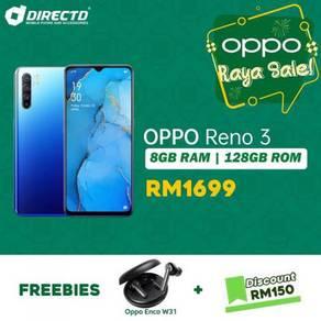 OPPO RENO 3 (8GB RAM/128GB ROM/4 kamera BLKG)MYset