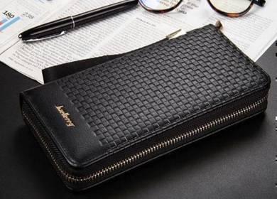 Baellery Genuine Leather Men's Long Wallet Clutch