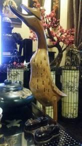 Vintage wood carved duck goose 19