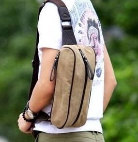 (121) Khakis Bag Cross Body Man Canvas Backpack