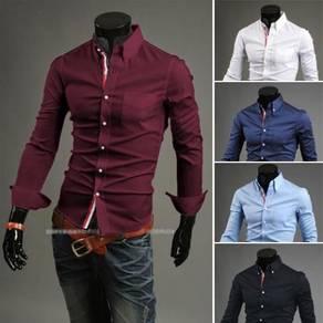 [57] Plain Hitz 5 Colors Long Sleeved Shirt (Red)