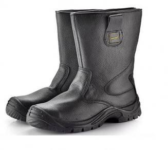 Black Modern High Cut Safety Shoes