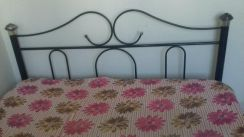 Foldable iron bed