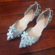 Flowers Low Heels Size 36